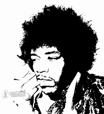 Ariel On Rock Pumpkin Carving Pattern by Jimi Hendrix Stencil Stencils Pinterest Jimi Hendrix And