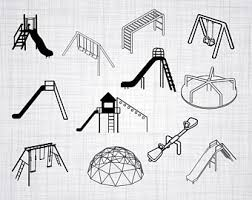 Playground SVG Bundle Clipart Cut Files For Silhouette Cricut Vector Dxf Png Design