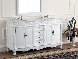 adelina 64 inch antique white double bathroom vanity fully