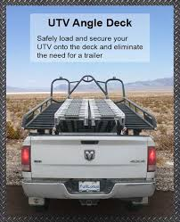 Sled Deck Ramp Width by Utv Angle Decks Eliminate The Need For Trailer
