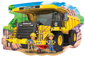 100 Caterpillar Dump Truck Toy Shaped Puzzle PuzzleWarehousecom