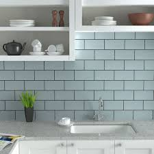 light blue kitchen wall tiles for subway backsplash toward