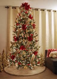 Silver Gold Ornament Set Mesh Ribbon Platinum Lame Lodge Faux Fur Tree Skirt Red Poinsettia Picks Tabletop Christmas Trees