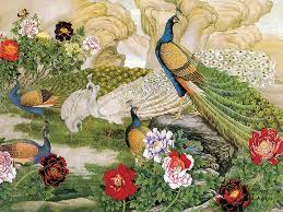 Beautiful Birds And Peacock Bird Nice Painting Poster Pics