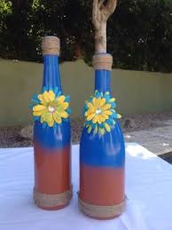 Decorative Wine Bottles Crafts by Sajeela W Sheikh Sajeelawsheikh On Pinterest