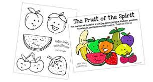 Fruit Of The Spirit Printables Crafts