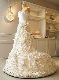 Check out this stunning life sized Wedding Dress Cake All ivory