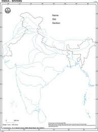 India Rivers Desk Outline Map