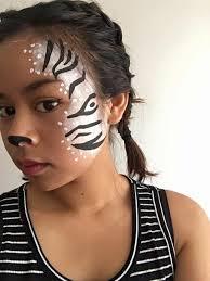 Halloween Half Mask Makeup by Zebra Face Paint Simple Gabba U0027s Art Pinterest Zebra