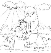 Exclusive Idea Baptism Of Jesus Coloring Page Flame Creative Childrens Ministry Printable