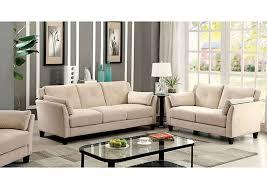 Peaceful Living Furniture Ysabel Beige Sofa and Loveseat