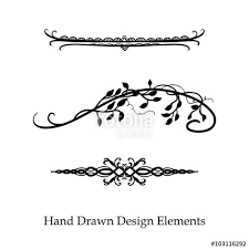 Vector Design Element Beautiful Fancy Curls And Swirls Divider Or Underline Black Ink Lines Can Be Placed On Any Color Wedding