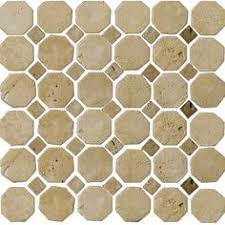 faber 12 5 in travertine mosaic multicolor wall tile
