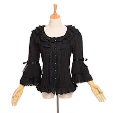 Introducing Blessume Ruffle Retro Victorian Lolita Black Blouse Get Your Ladies Products Here And Follow