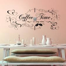 wandtattoo uhr coffee time is any time