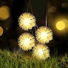 amazon com chuzzle ball solar string lights loende christmas
