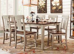 Raymour And Flanigan Dining Room Tables by Holden 7 Pc Dining Set Gray Oak Raymour U0026 Flanigan