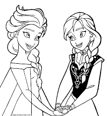 Frozen Color Page Anna From Coloring Pages Click For Larger Image Note Kids