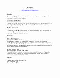 Store Manager Resume Sample Templates Recomended Retail Resumes Example Cl Full Size