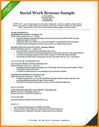 Resume Examples Social Work Example