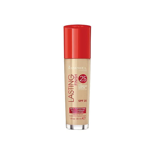 Rimmel London 25 Hour Lasting Finish Foundation - 200 Soft Beige, 30ml