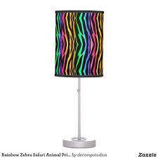 Animal Print Room Decor by Rainbow Zebra Safari Animal Print Desk Lamp Nursery Decor