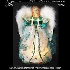 Irish Angel Christmas Tree Topper Light Up