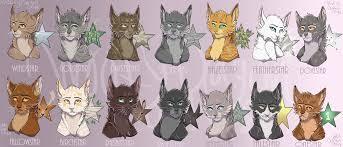 warrior cat names canon warrior cat names by momma ran on deviantart