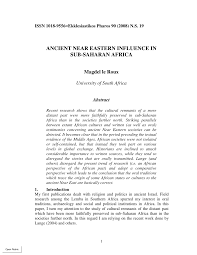 PDF Ancient Near Eastern Influence In
