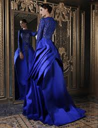 2017 royal blue lace wedding dresses with ball gown satin