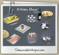 Sims 3 Kitchen Decor Bread Cofee Cookies Pots Pan