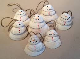 Seashell Christmas Tree Pinterest by Cute Little Clam Shell Snowmen I Made From Shells I Collected