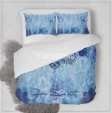 boho bedding free spirit duvet bedding set blue tie dye boho