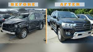 100 Salvage Trucks Auction Toyota Land Cruiser Before And After Pictures Show Why You