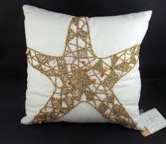 Pottery Barn Jeweled Starfish Star Fish Pillow 12