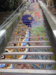 16th Ave Tiled Steps Project by Hidden Mosaic Steps Inner Sunset San Francisco San Francisco