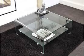 table basse carrée en verre transparent otta table basse pas cher