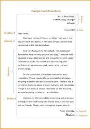 6 informal letter short sample format