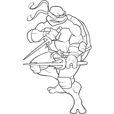 Free Superhero Coloring Pages Ninja Turtle Cool