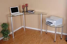 Wayfair Corner Computer Desk by Amazon Com Tier One Designs Clear Glass Corner Computer Desk