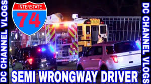 Truck Driver Driving Wrongway Collided With School Bus I-74 MCLEAN ...