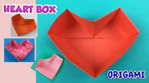How To Make A Simple Paper Heart Box Origami Easy Tutorials Arts Crafts