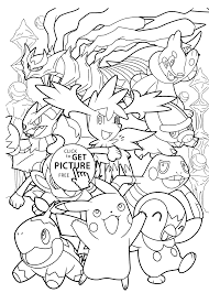 All Pokemon Anime Coloring Pages For Kids Printable Free