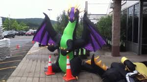 Halloween Blow Up Decorations by Halloween Dragon Youtube
