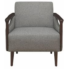Mid-Century Modern Accent Chair In Grey Fabric W/ Wood - AptDeco Klaussner Chairs And Accents Rocco Accent Chair With Spoolturned Ashley Signature Design Copeland A30021 Deconstructed Style Linen 72 Off Grey Upholstered Arm Whosale Accent Chair Living Room Fniture Marseille Cream Black Value City Fniture Homespot Eva Velvet Cut Out Shaped Back Elegant 43201 Traditional Rolled Arms Wooden Legs Best Home Furnishings 3410 Cogan Exposed Wood Antonia Rustic Lodge Pillow Brown Living Room Funky At Contemporary Warehouse Navy Coral Seat Etsy