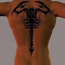 Tribal Scorpion On Whole Back