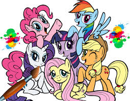 My Little Pony Coloring Book MLP All Ponies Together Pages For Kids