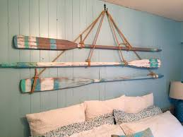 Beachy Headboards Beach Theme Guest Bedroom With Diy Wood by Vintage Oar Paddle Headboard King Or Queen Size Beach House Style