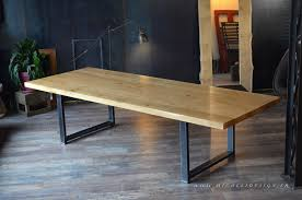 table haute en bois métal de style industriel micheli design