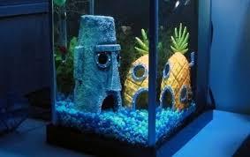 Spongebob Aquarium Decor Set by Cartoon Fish Tank Abodes Spongebob Squarepants Bottom